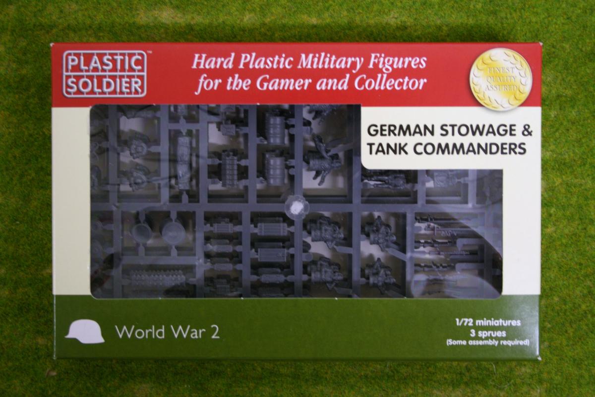 Plastic Soldier Company WW2 GERMAN STOWAGE & TANK COMMANDERS 1/72 scale