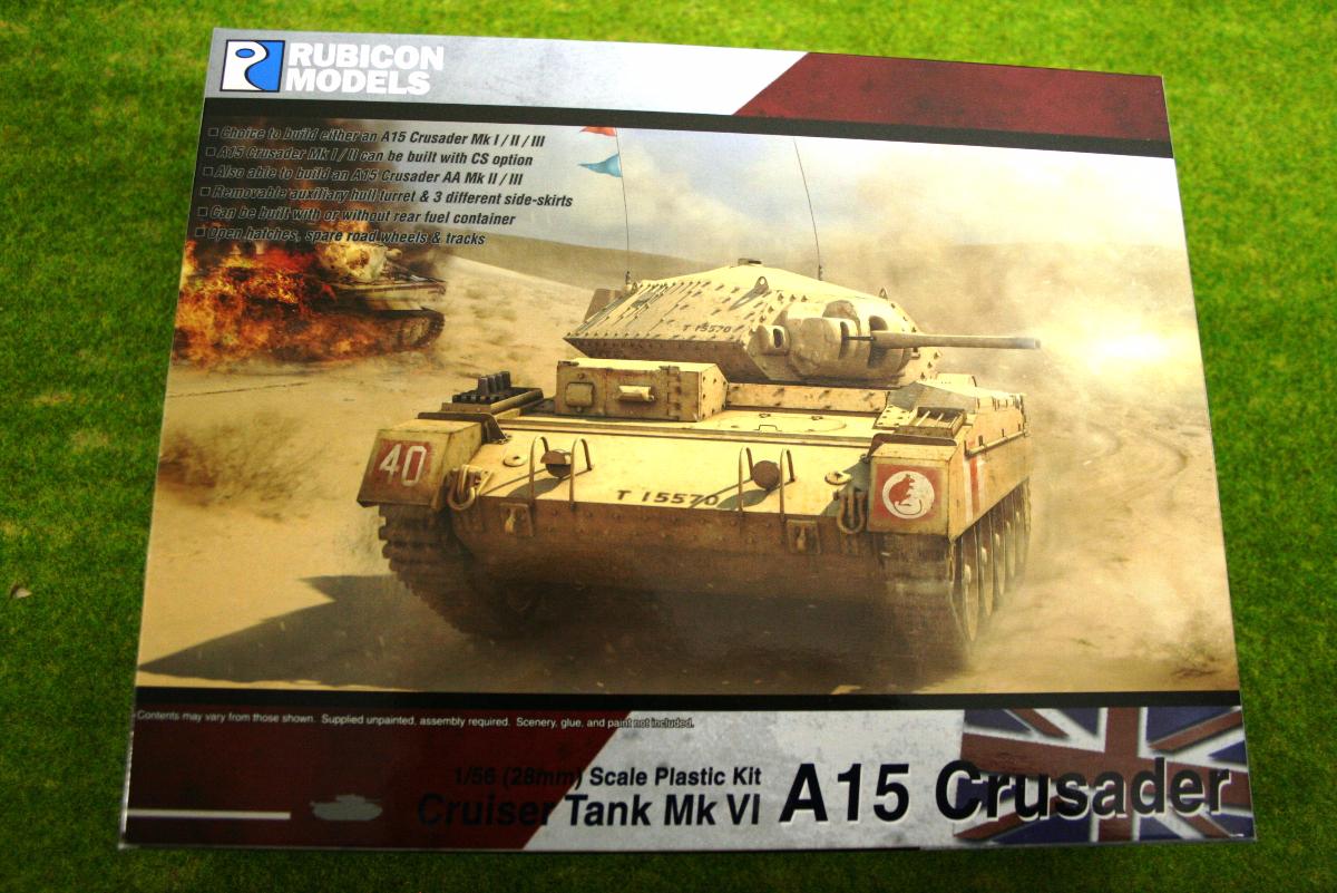 Rubicon Models Crusader Cruiser Tank MkVI A15 1/56th scale 28mm RU01016