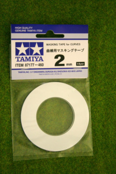 Tamiya MASKING TAPE FOR CURVES 2mm width Modelling Accessories item 87177