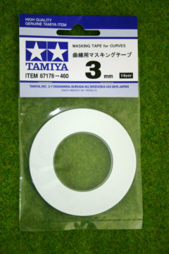 Tamiya MASKING TAPE FOR CURVES 3mm width Modelling Accessories item 87178