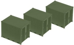 Roco Minitanks 10 foot Container – set of three 5073 HO or 1/87th scale