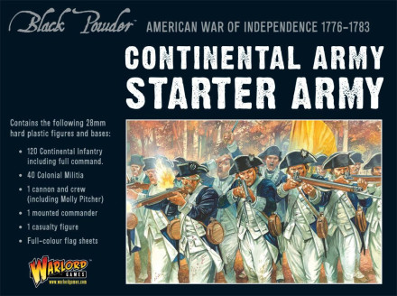 AMERICAN WAR OF INDEPENDENCE CONTINENTAL ARMY Warlord Games Black Powder SD