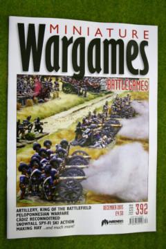MINIATURE WARGAMES ISSUE 392 December 2015 MAGAZINE