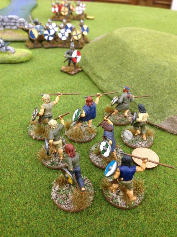 The Danes force the river crossing!
