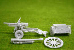 1/56 scale – 28mm WW2 British 25 Pounder with limber Blitzkrieg miniatures