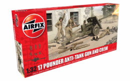 Airfix 17 Pounder Anti-tank Gun and Crew 1/32 Scale Plastic Kit A06361
