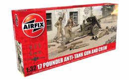 Airfix 17 Pounder Anti-tank Gun and Crew 1/32 Scale Plastic Kit A06361