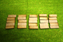 15mm x 40mm LASER CUT MDF 2mm Wooden Bases for Wargames