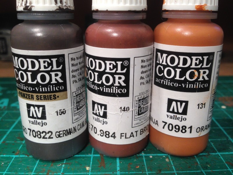 Colour palette for first batch of horses