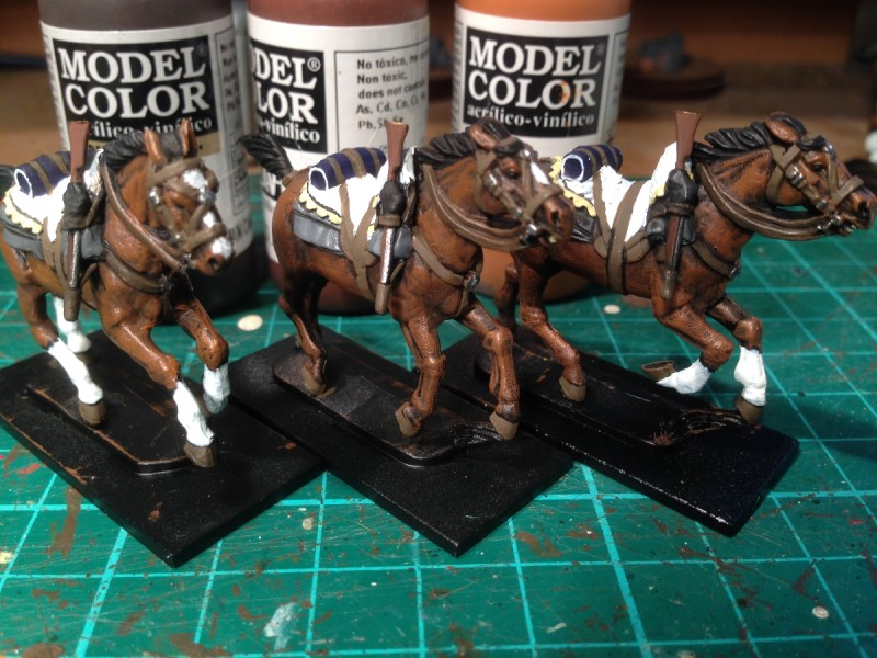 Three of the first six horses done!