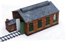 Railway Building Engine Shed Set R008