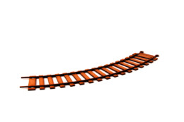 Railway Track Curve Pack (4) R021