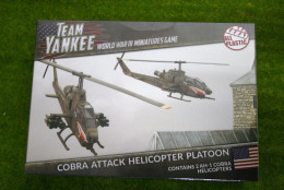 Team Yankee COBRA ATTACK HELICOPTER PLATOON Flames of War 15mm TUBX05