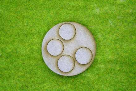 'BOLT ACTION' 80mm Small Artillery Team Bases Pack of 1