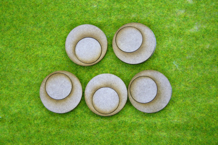 'BOLT ACTION' 40mm Small Gun Team Bases Pack of 5