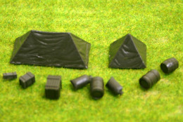 Roco Minitanks Tents and cargo set set HO or 1/87th scale 5084