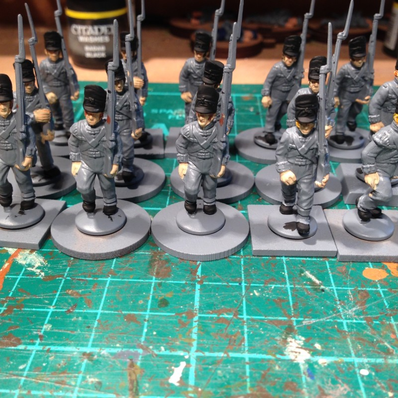 Hair and black equipment  painted.