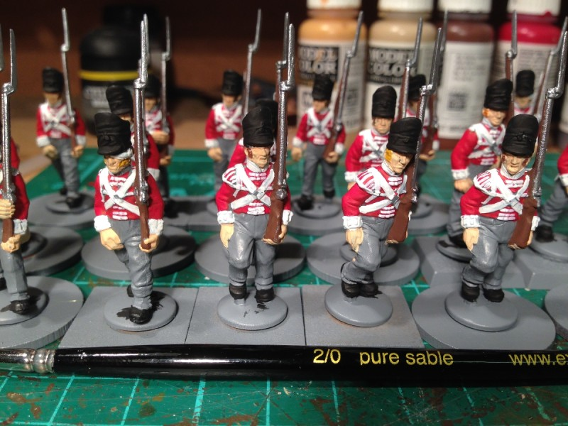 The 32nd battalion of foot starts to take shape!