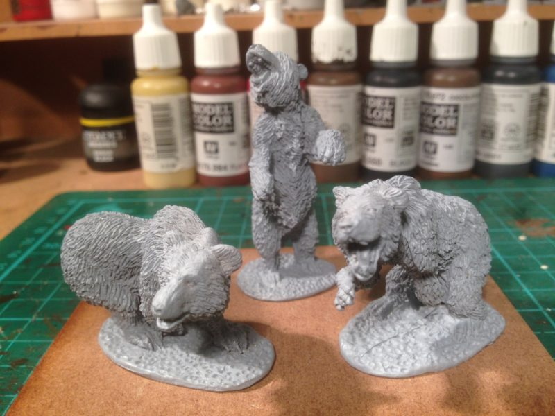 DeeZee Cave bears primed and ready for painting.
