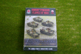 Flames of War Light Sensha Platoon Japanese Army 15mm JBX03