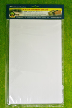 CONCRETE BLOCK PACK OF 2 SHEETS O scale ( 1/48th Scale) LS97426
