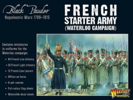 FRENCH NAPOLEONIC STARTER ARMY (WATERLOO) Warlord Games Black Powder SD