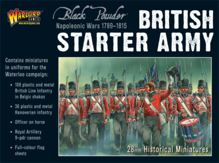 NAPOLEONIC BRITISH WATERLOO STARTER ARMY Warlord Games Black Powder SD