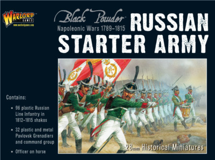 NAPOLEONIC RUSSIAN STARTER ARMY Warlord Games Black Powder SD