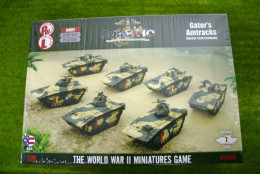 Flames of War GATORS AMTRACKS Marine Tank Company 15mm USAB06