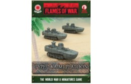 Flames of War Japanese Type 2 Ka-Mi Platoon 15mm JBX06