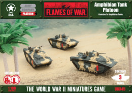Flames of War US Amphibian Tank Platoon 15mm UBX45