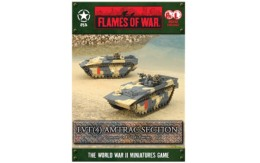 Flames of War US LVT(4) Amtrac Section 15mm UBX46