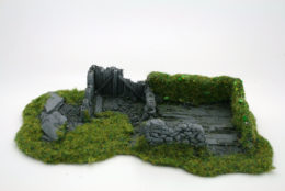 BZB12 JAVIS Battle Zone Derelict Building type 12 resin scenery