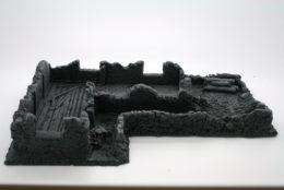 BZB17 JAVIS Battle Zone Derelict Building type 17 resin scenery