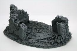 BZB6 JAVIS Battle Zone Derelict Building type 6 resin scenery