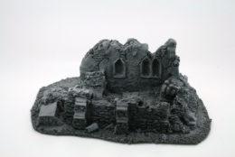 BZB13 JAVIS Battle Zone Derelict Building type 13 resin scenery