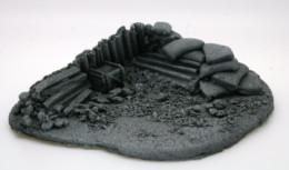BZFS1 JAVIS Battle Zone Small Fox hole 1 resin scenery
