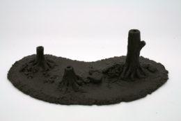 BZBASE3 JAVIS Battle Zone Scenery Large Triple Tree Base resin scenery