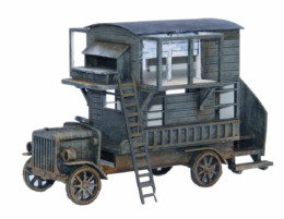 WW EUROPE Converted Pigeon Loft Bus 28mm Laser cut MDF kit N065