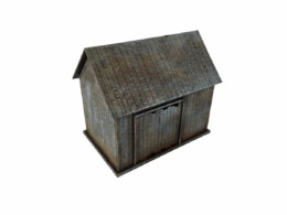 WW EUROPE Russian Village Outhouse 28mm Laser cut MDF kit N069