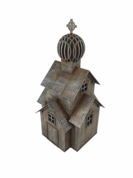 WW EUROPE Russian Village Church 28mm Laser cut MDF kit N070