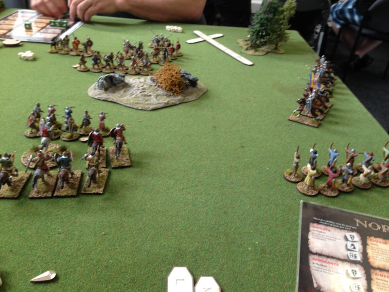 The Norman Army attempts to pull the Danes out of position.