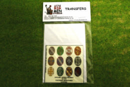 Daylami Shield Transfers for Footsore Miniatures Little Big Men DAY(FM)1