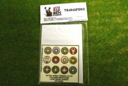 Gothic Shield Transfers for Footsore Miniatures Little Big Men GOTH(FM)1