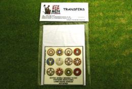 Gothic Shield Transfers for Footsore Miniatures Little Big Men GOTH(FM)3