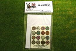 Islamic Shield Transfers for Footsore Miniatures Little Big Men ISLAM(FM)1
