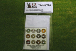 Islamic Shield Transfers for Footsore Miniatures Little Big Men ISLAM(FM)10