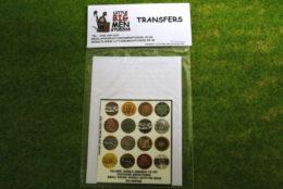Islamic Shield Transfers for Footsore Miniatures Little Big Men ISLAM(FM)2
