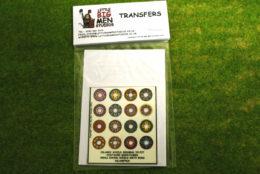 Islamic Shield Transfers for Footsore Miniatures Little Big Men ISLAM(FM)3