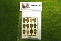 Islamic Shield Transfers for Footsore Miniatures Little Big Men ISLAM(FM)5